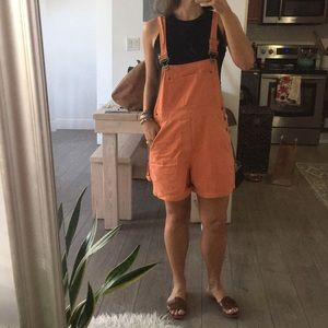 Urban Outfitters Orange Overalls